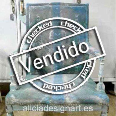 Butaca antigua attrezzo - Taller decoración de muebles antiguos Madrid estilo Shabby Chic, Provenzal, Rómantico, Nórdico