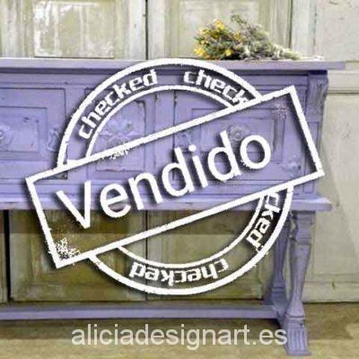 Consola shabby chic malva - Taller decoración de muebles antiguos Madrid estilo Shabby Chic, Provenzal, Rómantico, Nórdico