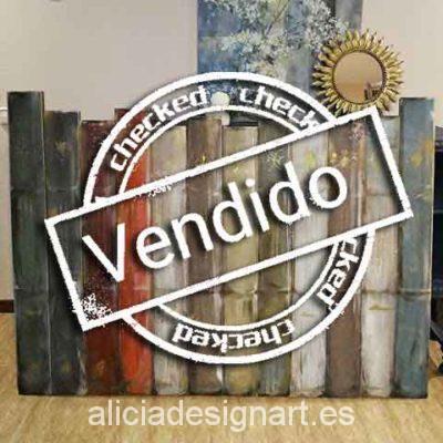 Cabecero decorado con libros - Taller decoración de muebles antiguos Madrid estilo Shabby Chic, Provenzal, Rómantico, Nórdico