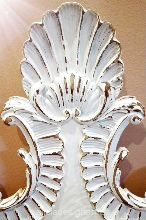 Cabeceros y mesita Valenti - Decoracíon de muebles antiguos estilo Shabby Chic, Provenzal, Rómantico, Nórdico