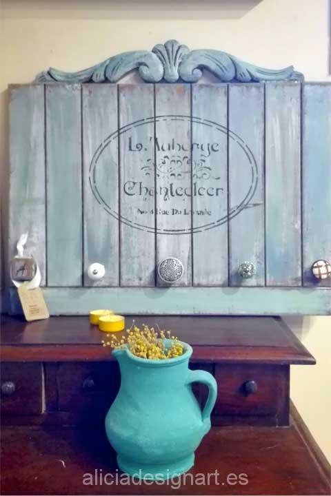 Colgador Shabby Chic - Decoracíon de muebles antiguos estilo Shabby Chic, Provenzal, Rómantico, Nórdico