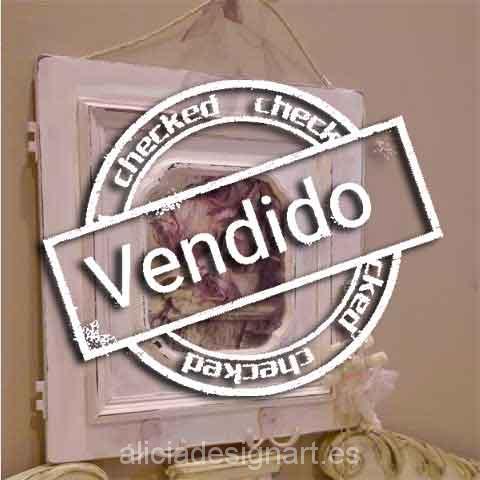 Perchero reciclado rosa Shabby Chic - Taller decoración de muebles antiguos Madrid estilo Shabby Chic, Provenzal, Rómantico, Nórdico