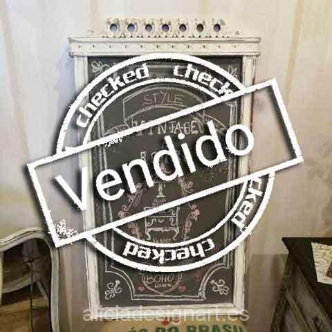 Cuadro pizarra reciclado Shabby Chic - Taller decoración de muebles antiguos Madrid estilo Shabby Chic, Provenzal, Rómantico, Nórdico