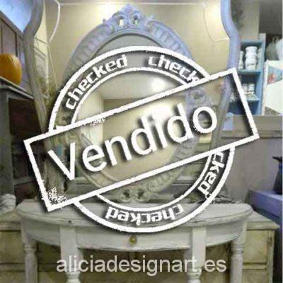 Consola media luna Shabby Chic - Taller decoración de muebles antiguos Madrid estilo Shabby Chic, Provenzal, Rómantico, Nórdico