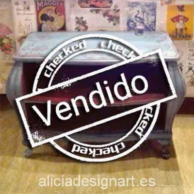 Consola abombada Shabby Chic - Taller decoración de muebles antiguos Madrid estilo Shabby Chic, Provenzal, Rómantico, Nórdico