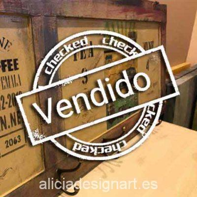 Cabecero puerta reciclada Route 66 Boho Chic - Taller decoración de muebles antiguos Madrid estilo Shabby Chic, Provenzal, Rómantico, Nórdico