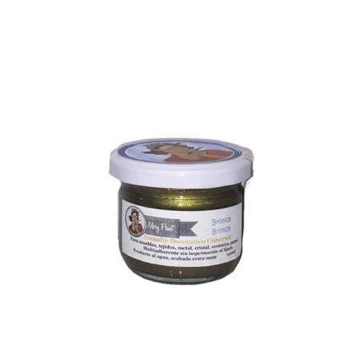Bote pintura para decoración color Bronce Metalizado 140 ml - Decoracíon de muebles antiguos estilo Shabby Chic, Provenzal, Rómantico, Nórdico