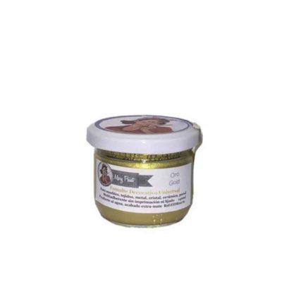 Bote pintura para decoración color Oro Metalizado 140 ml - Decoracíon de muebles antiguos estilo Shabby Chic, Provenzal, Rómantico, Nórdico