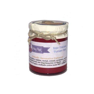 Bote pintura para decoración color Rojo Toscana 250 ml - Decoracíon de muebles antiguos estilo Shabby Chic, Provenzal, Rómantico, Nórdico