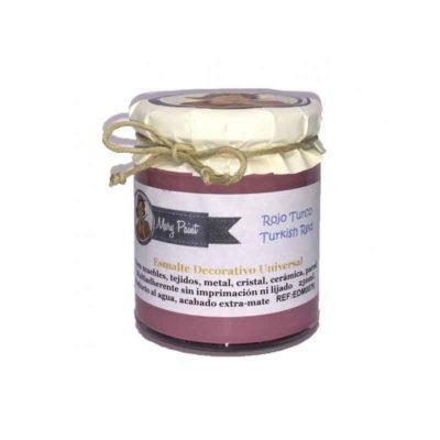 Bote pintura para decoración color Rojo Turco 250 ml - Decoracíon de muebles antiguos estilo Shabby Chic, Provenzal, Rómantico, Nórdico