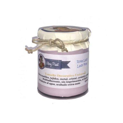Bote pintura para decoración color Rosa Lady 250 ml - Decoracíon de muebles antiguos estilo Shabby Chic, Provenzal, Rómantico, Nórdico
