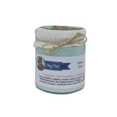 Bote pintura para decoración color Verde Mint 250 ml - Decoracíon de muebles antiguos estilo Shabby Chic, Provenzal, Rómantico, Nórdico