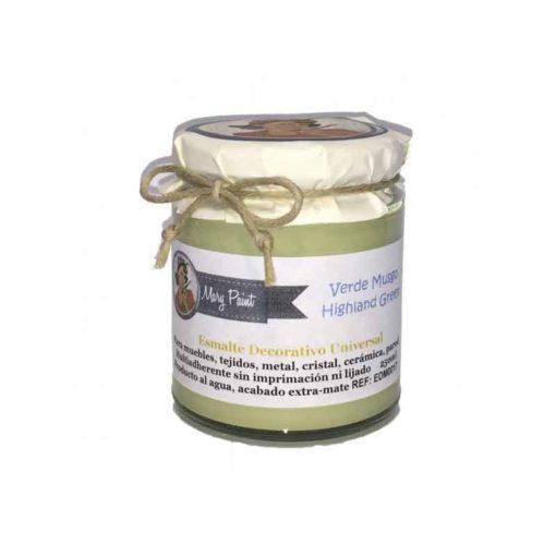 Bote pintura para decoración color Verde Musgo 250 ml - Decoracíon de muebles antiguos estilo Shabby Chic, Provenzal, Rómantico, Nórdico