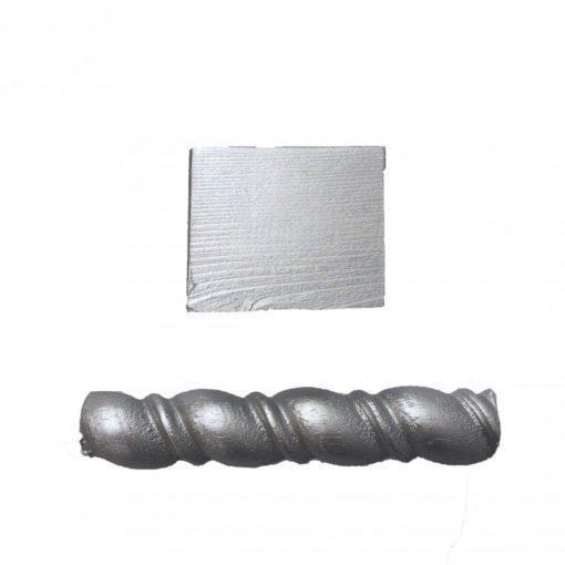 Muestra de pintura para decoración color plata metalizado - Decoracíon de muebles antiguos estilo Shabby Chic, Provenzal, Rómantico, Nórdico