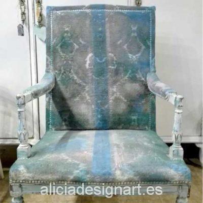 Atrezzo butaca estilo Shabby Chic - Decoracíon de muebles antiguos estilo Shabby Chic, Provenzal, Rómantico, Nórdico