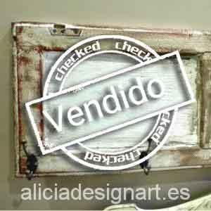 Perchero estilo vintage - Decoracíon de muebles antiguos estilo Shabby Chic, Provenzal, Rómantico, Nórdico