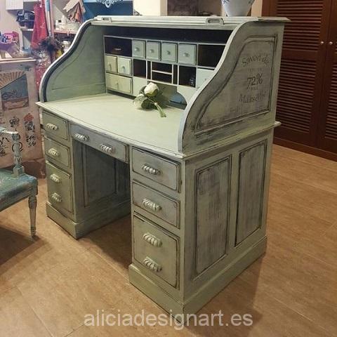 escritorio vintage verde antiguo shabby chic
