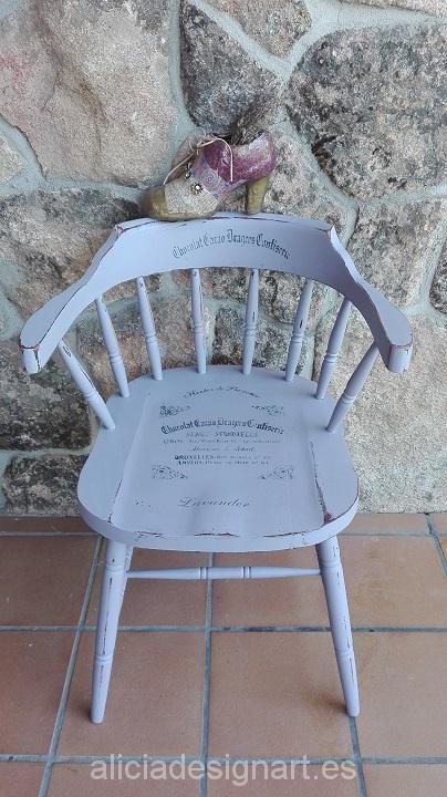 silla vintage pintada malva Alicia Designart