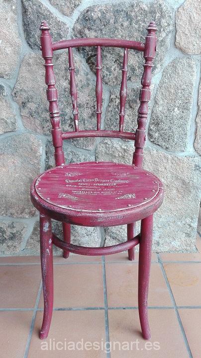 silla vintage rojo garnacha Alicia Designart