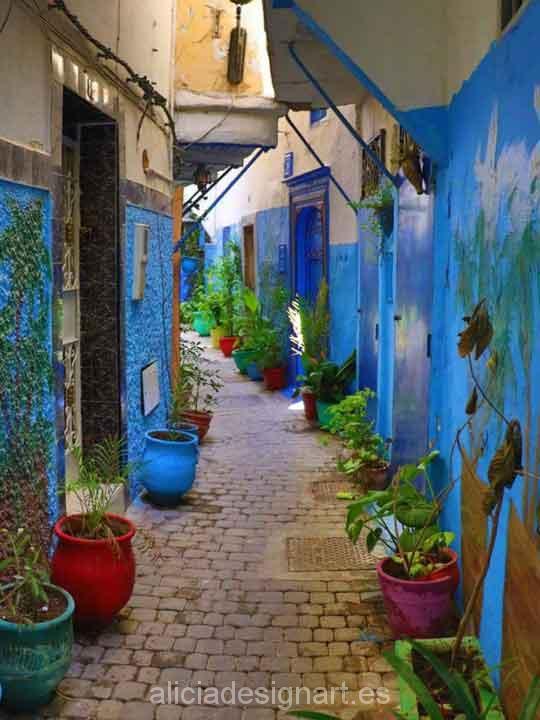 Pintura chalk paint para decoración de muebles azul mediterráneo - Taller decoración de muebles antiguos Madrid estilo Shabby Chic, Provenzal, Rómantico, Nórdico