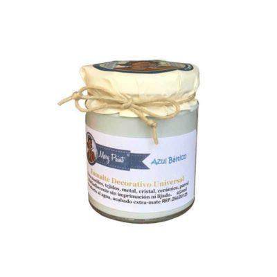 Bote pintura para decoración color Azul Báltico 250 ml - Decoracíon de muebles antiguos estilo Shabby Chic, Provenzal, Rómantico, Nórdico