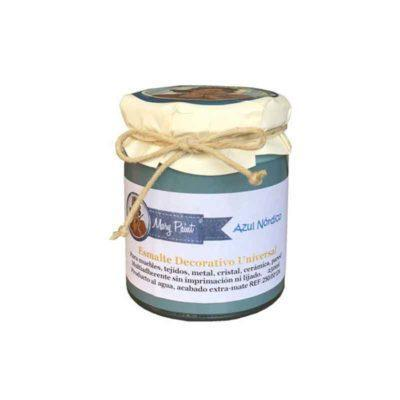 Bote pintura para decoración color Azul Nordico 250 ml - Decoracíon de muebles antiguos estilo Shabby Chic, Provenzal, Rómantico, Nórdico