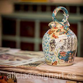 decoración-botijo-muebles-découpage-flores-shabby-chic-alicia-designart