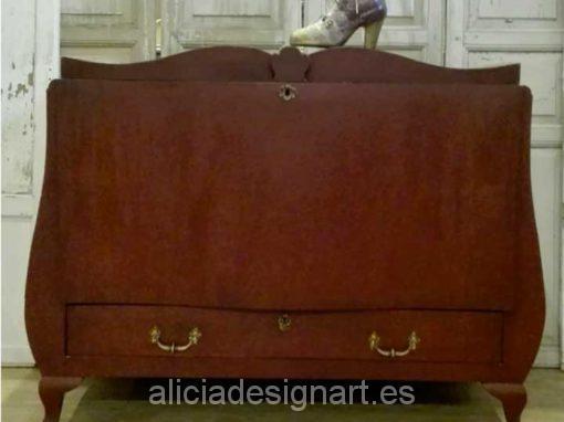 Cómoda abombada baúl rococó estilo Luis XVI