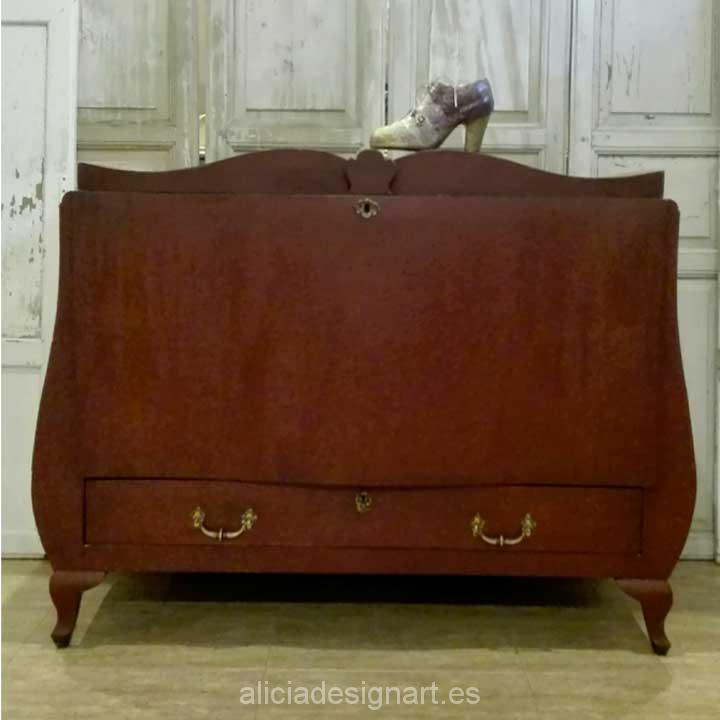 Baúl rococó estilo Luis XVI - Decoracíon de muebles antiguos estilo Shabby Chic, Provenzal, Rómantico, Nórdico