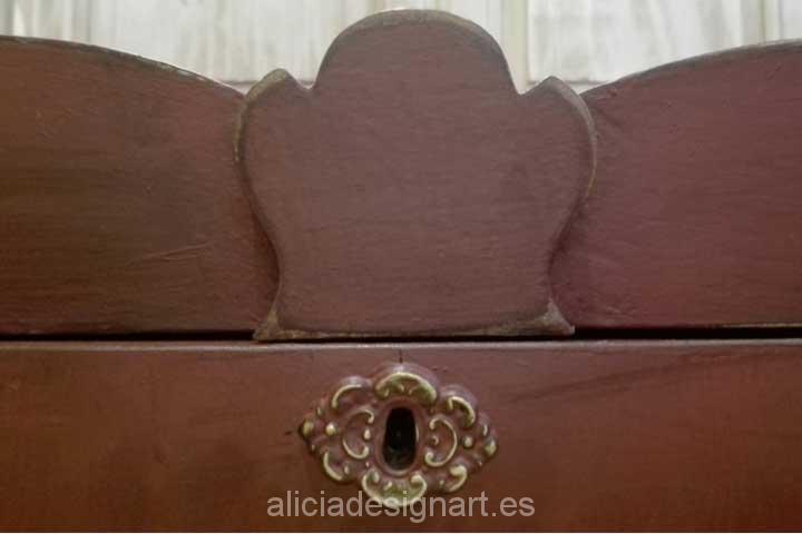 Decoracion muebles antiguos estilo shabby chic baul bombee - Estilo shabby chic muebles ...