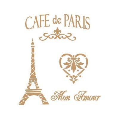 Café de París corazón Torre Eiffel