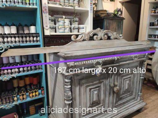 Cabecero copete walldecor estilo Shabby Chic - Taller de decoración de muebles antiguos Alicia Designart Madrid