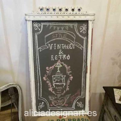 Pizarra Shabby Chic antiguo marco Art Déco - Taller decoracíon de muebles antiguos en Madrid estilo Shabby Chic, Provenzal, Rómantico, Nórdico