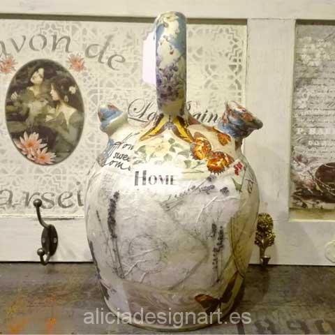 Botijo Shabby Chic - Decoracíon de muebles antiguos estilo Shabby Chic, Provenzal, Rómantico, Nórdico