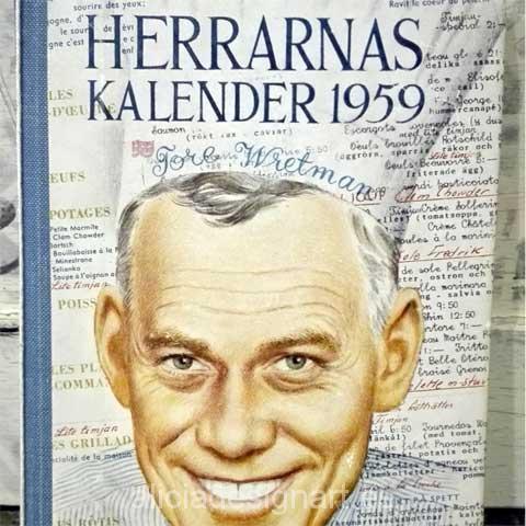 Libro calendario sueco de 1959 portada - Decoracíon de muebles antiguos estilo Shabby Chic, Provenzal, Rómantico, Nórdico