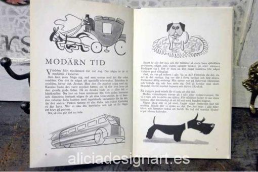 Libro calendario sueco de 1959 interior - Decoracíon de muebles antiguos estilo Shabby Chic, Provenzal, Rómantico, Nórdico