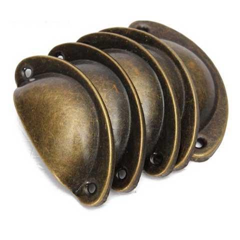 Tirador concha de bronce - Decoracíon de muebles antiguos estilo Shabby Chic, Provenzal, Rómantico, Nórdico