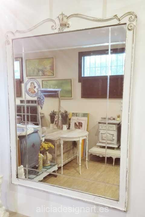Vendido consola estilo ingl s y espejo rectangular - Muebles antiguos madrid ...