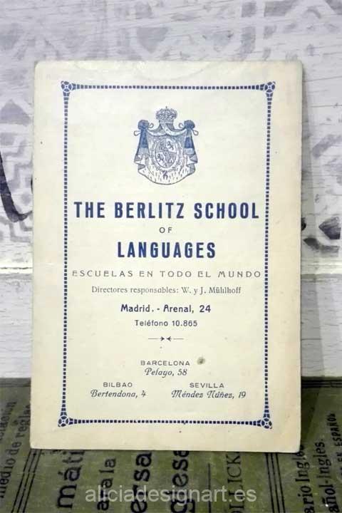 Libro de gramática inglesa de 1924 - Decoracíon de muebles antiguos estilo Shabby Chic, Provenzal, Rómantico, Nórdico