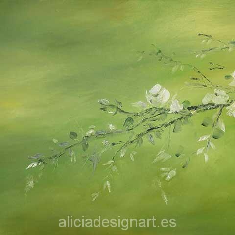 Papel de arroz para decoupage Cerezo en flor - Decoracíon de muebles antiguos estilo Shabby Chic, Provenzal, Rómantico, Nórdico