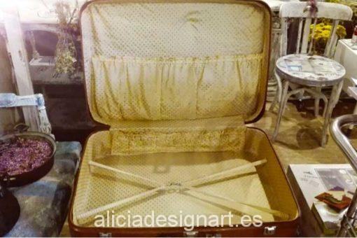 Maleta Shabby Chic Paris - Decoracíon de muebles antiguos estilo Shabby Chic, Provenzal, Rómantico, Nórdico