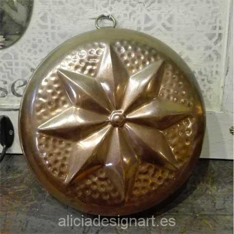 antiguedad molde reposteria estrella - Decoracíon de muebles antiguos estilo Shabby Chic, Provenzal, Rómantico, Nórdico