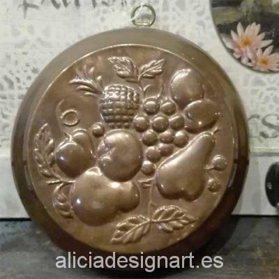 antiguedad molde reposteria frutos - Decoracíon de muebles antiguos estilo Shabby Chic, Provenzal, Rómantico, Nórdico