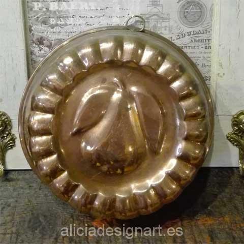 antiguedad molde reposteria pera - Decoracíon de muebles antiguos estilo Shabby Chic, Provenzal, Rómantico, Nórdico