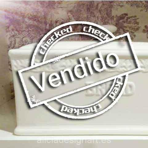 Panera inglesa de cerámica antigua atrezzo - Tienda de productos de decoración en Madrid. Plantillas de stencil, papel decoupage, pintura decoración, Shalk Paint, accesorios