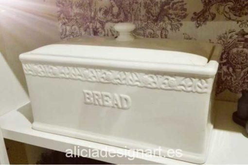 Panera inglesa de porcelana - Decoracíon de muebles antiguos estilo Shabby Chic, Provenzal, Rómantico, Nórdico