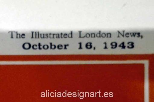 Periodico ingles de 1943 portada - Decoracíon de muebles antiguos estilo Shabby Chic, Provenzal, Rómantico, Nórdico