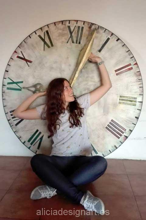 Reloj estilo steampunk industrial - Decoracíon de muebles antiguos estilo Shabby Chic, Provenzal, Rómantico, Nórdico