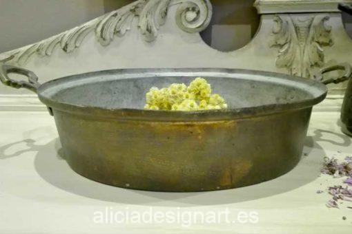 antiguedad sarten paella cobre macizo - Decoracíon de muebles antiguos estilo Shabby Chic, Provenzal, Rómantico, Nórdico