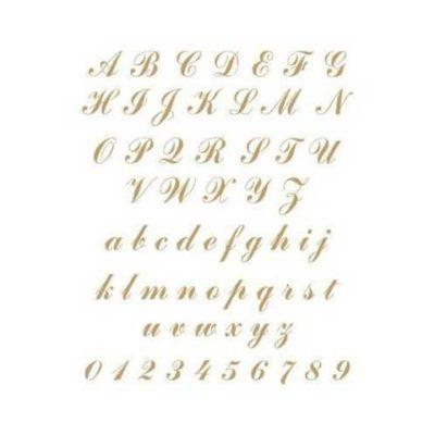 Stencil para decoración Abecedario Shabby Chic - Decoracíon de muebles antiguos estilo Shabby Chic, Provenzal, Rómantico, Nórdico